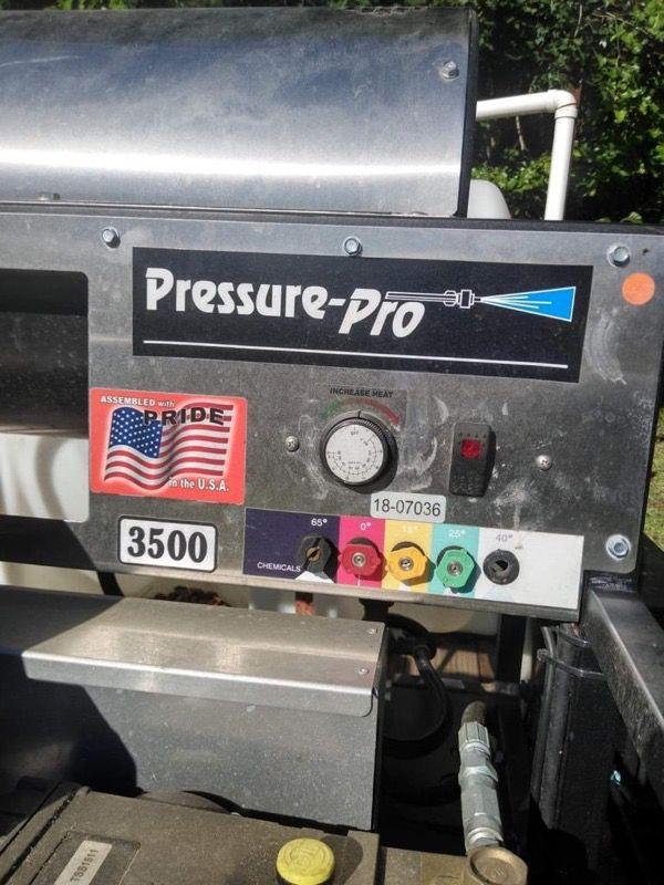 Pressure washer w/ trailer