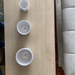 Small White Trio Planter Set for Sale in Peyton,  CO