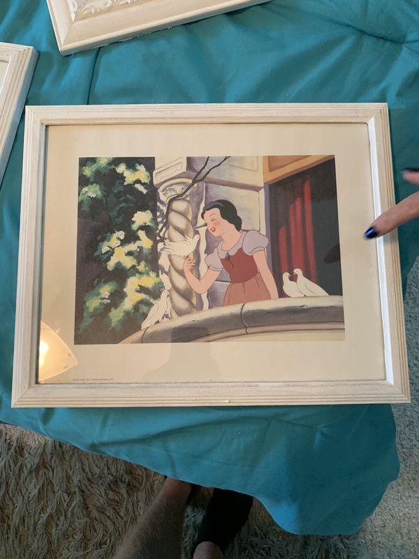 Framed Disney Snow White Print