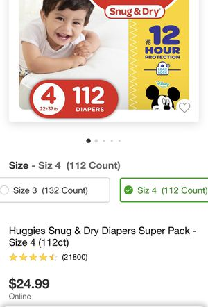 Huggies snug and dry! No low ballers for Sale in San Diego, CA
