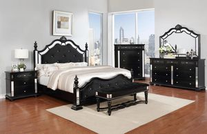 Opulent Blaaack Bedroom Set for Sale in Arlington, VA