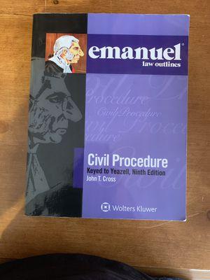 Emanuel law outlines for civil procedure for Sale in Riverside, CA