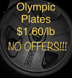 Brand New Olympic Weight Plates 45 35 25 10 5 2.5 for Sale in Long Beach,  CA