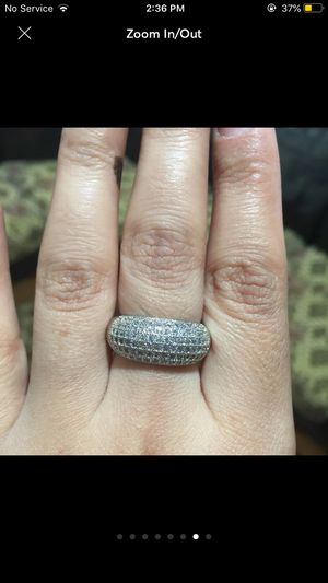Silver sapphire wedding engagement casual proposal love anniversary ring for Sale in Silver Spring, MD