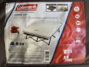 Coleman Airbed Cot - queen for Sale in San Diego, CA