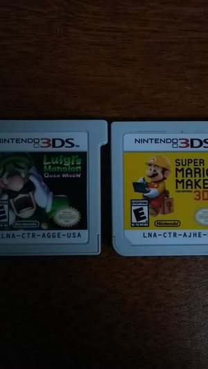 Mario Maker and Luigi's Mansion for 3ds for Sale in Houston, TX