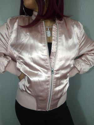 Pink Satin bomber jacket see photos/ Ver fotos for Sale in Fullerton, CA