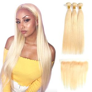 613 Blonde Three Hair weaves with frontal for Sale in Qingdao Shi, CN