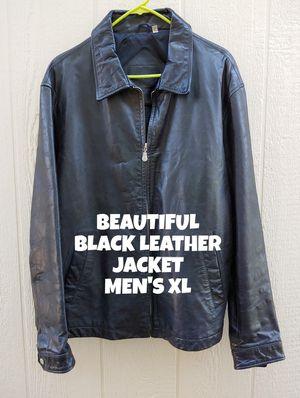 BEAUTIFUL, BLACK LEATHER JACKET, MEN'S XL for Sale in Glendale, AZ