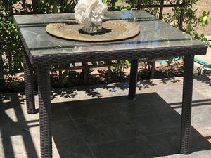 Patio Table - glass top for Sale in Diamond Bar, CA