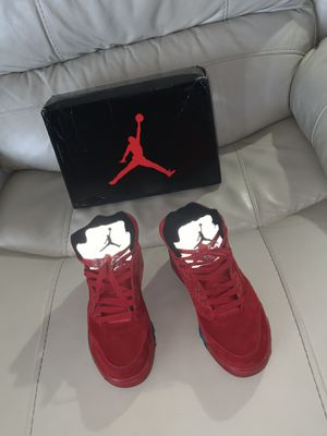 Jordan 5 red suede size 7 for Sale in Takoma Park, MD