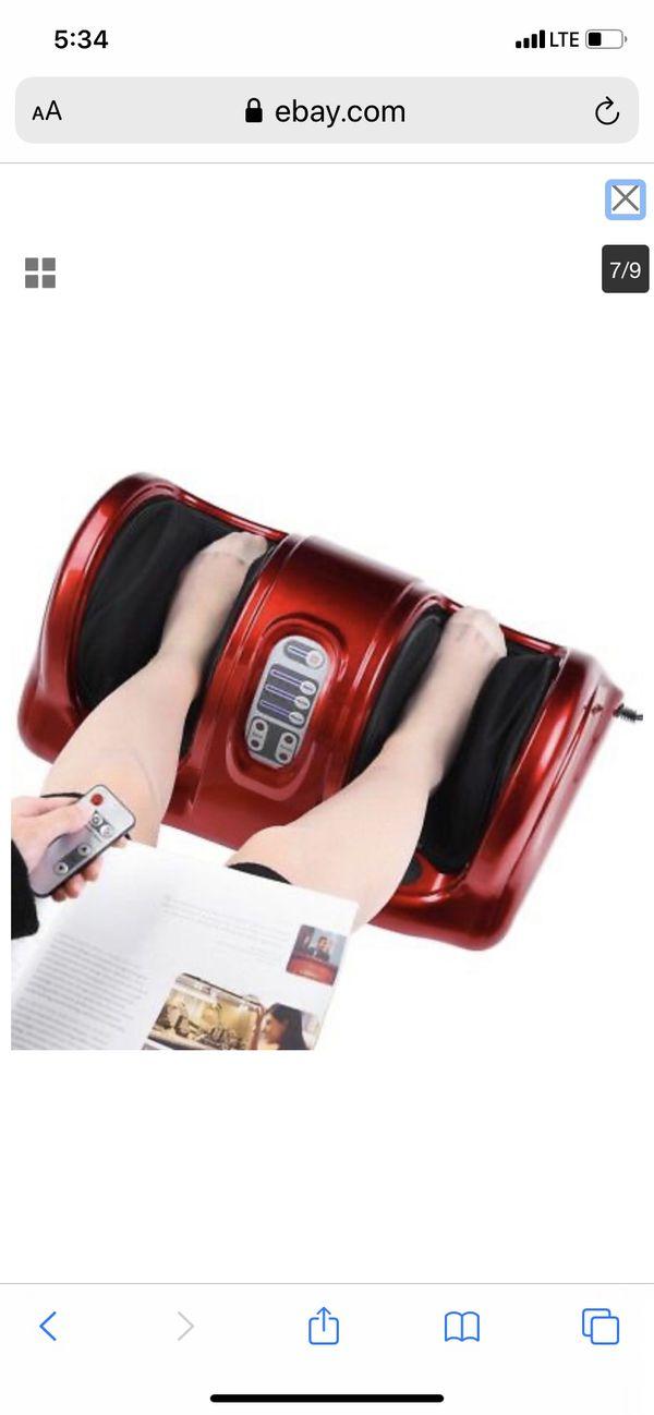 Shiatsu Foot Massager Kneading Rolling Leg w/ Remote Home Health Care