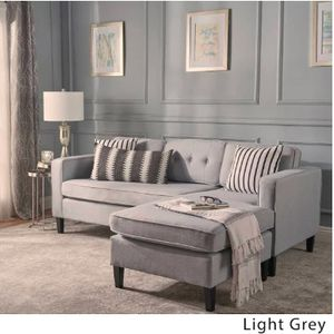 2pc Wilder Mid Century Chaise Sectional Sofa - Light Grey (Christopher Knight Home) for Sale in San Diego, CA