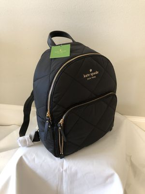 New Kate Spade quilted nylon black Backpack large for Sale in Woodinville, WA