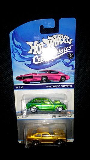 Two cool classics 1976 Chevy Chevette Custom V-8 Vega hot wheels matchbox diecast unopened $14 for Sale in La Puente, CA