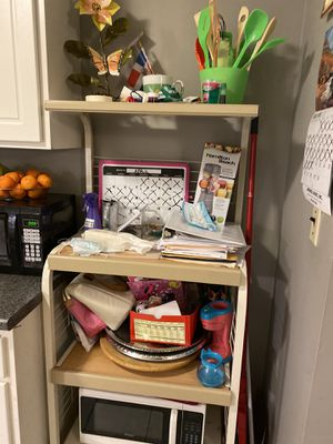 Baker's Rack with Microwave for Sale in Providence, RI