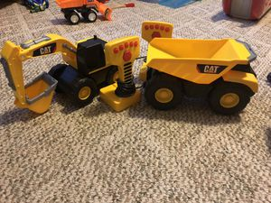 Construction truck toys with remotes for Sale in Newark, OH