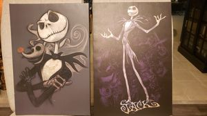 Nightmare Before Christmas Disney exclusive canvas art prints. for Sale in San Antonio, TX