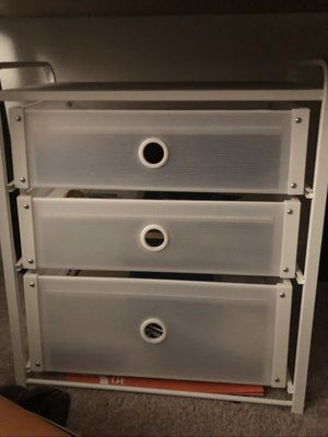 IKEA ORGANIZER, WHITE, WITH THREE DRAWERS! for Sale in Arlington, VA