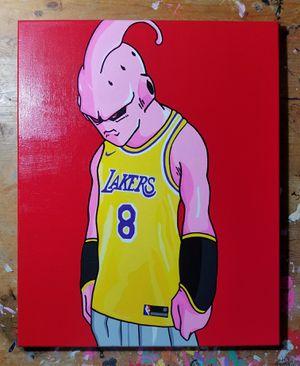 Dragon ball z majin kid buu x lakers painting for Sale in Santa Monica, CA