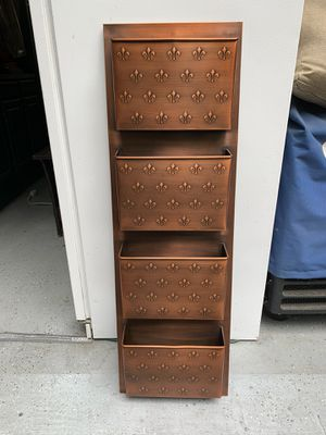 Copper Wall Mailbox with 4 Storage Slots and Fleur de lis Detail for Sale in Renton, WA