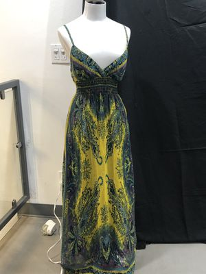 Shes Cool Womens Maxi Dress Yellow/Cyan for Sale in Palm Springs, CA