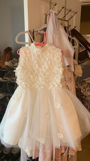 White dress little girl communion flower girl for Sale in Lombard, IL