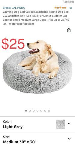 """NEW 30"""" Calming Donut Pet Bed (Light Grey) for Sale in Hoboken, NJ"""