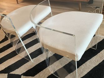 CB2 Antonio Acrylic Chairs (2) for Sale in West Hollywood,  CA