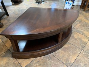 Corner Tv stand - 42 in by 42 in and 65 in across for Sale in Gilbert, AZ