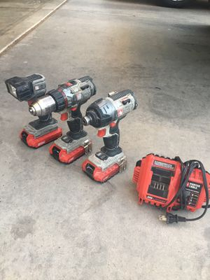 Drill, drill impact and light lamp ! Porter cable 20 v for Sale in Phoenix, AZ
