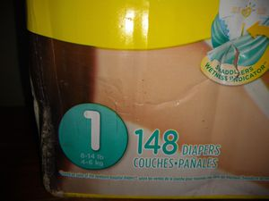 Pampers Sz 1 148 diapers for Sale in Detroit, MI