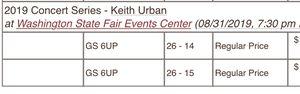 2 Keith Urban tickets for Sale in Aberdeen, WA