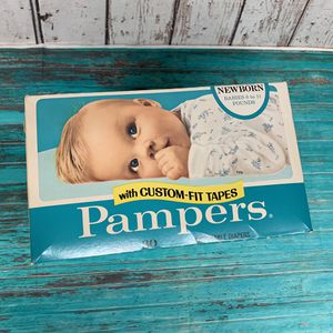 Vintage 1974 Pampers Newborn Diapers 30ct Box NOS for Sale in Carleton, MI