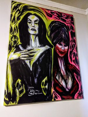 Vampira Elvira Mistress of the dark art for Sale in Long Beach, CA