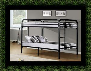 Twin bunk bed frame with 2 mattress for Sale in Woodlawn, MD
