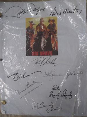 Autograph Movie script of Rio Bravo All Cast signed for Sale in Milan, GA