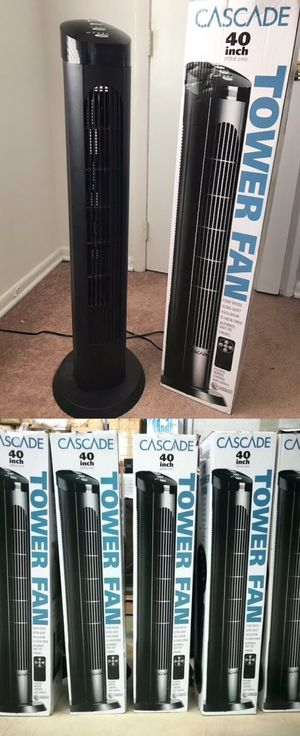 $20 each 40 inches spinning cascade fan open box tower fan oscillation timer quiet ventilador for Sale in Baldwin Park, CA