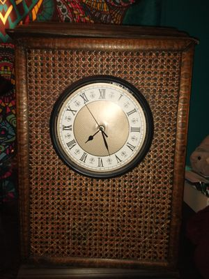 Antique wicker clock / cabinet for Sale in Greer, SC
