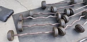 10 ivanko curl and straight fixed weight bars. for Sale in Montebello, CA