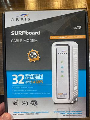 SURFboard Cable Modem - Up to 1.4 GBPS Download for Sale in Greenwood, IN