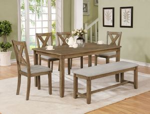 6PC Dining table, 4 chairs and bench for Sale in Glendale, AZ