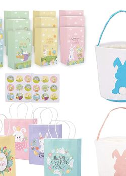 Easter Bags Easter Paper Bags Easter Bunny Basket Egg Bags for Kids for Sale in Skokie,  IL
