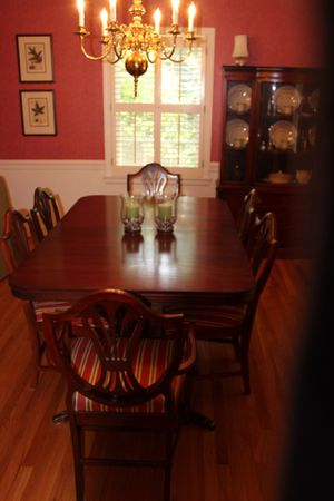 Antique Cherry Dinning Table, 6 chairs and china cabinet for Sale in Raleigh, NC