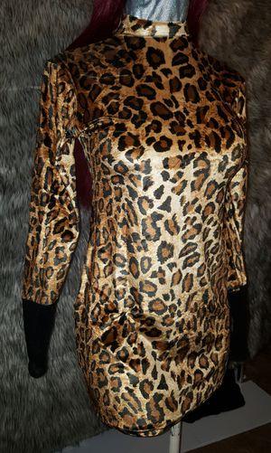 NEW!!! Animal print velvet dress for Sale in Austin, TX