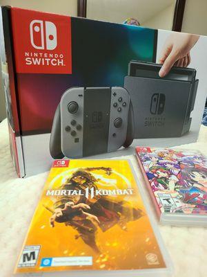 Nintendo Switch + 2 games 128 gb sd card for Sale in Escondido, CA