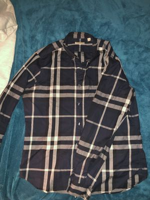 Men's Burberry Brit button up shirt sz Large MUST PICK UP NEAR ME for Sale in North Randall, OH