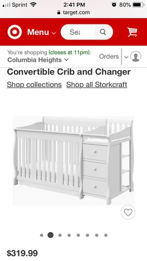 For Babies / Convertible Crib & Changer + 2 Mattresses for Sale in Falls Church, VA