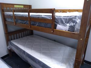 Wooden bunk bed 195 for Sale in Columbus, OH