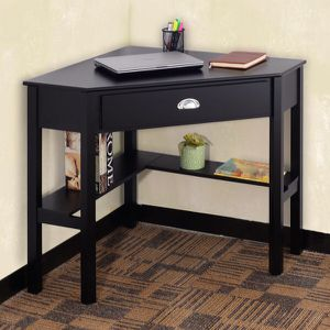 New in box $80 each black or white color wooden space saving corner computer laptop desk table with drawer 30x30x30 inches for Sale in Covina, CA